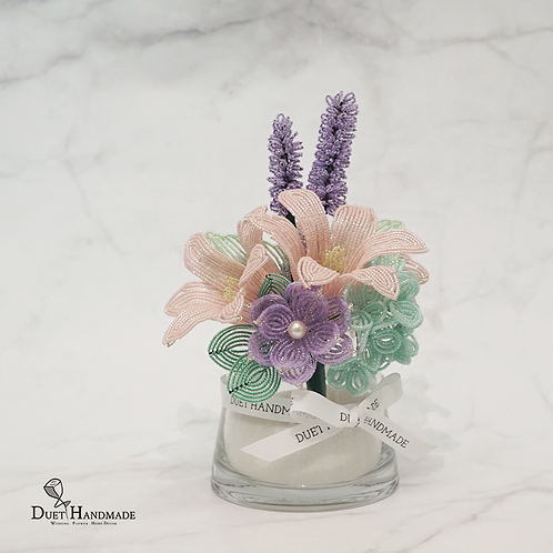 French Beaded Lily Flower Arrangement