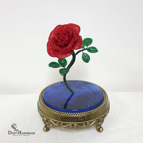 French Beaded Enchanted Rose