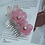 Thumbnail: French Beaded Double Flower Hair Comb