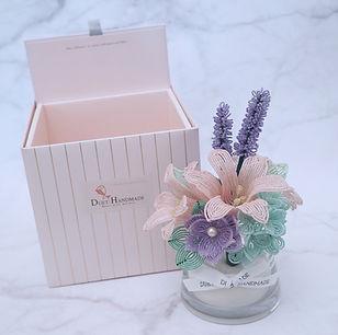 Duethandmade_French Beaded Flower Arrang