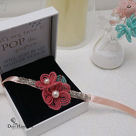 Duet handmade_French Beaded Double Flowe