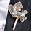 Thumbnail: French Beaded Leaf & Rhinestone Boutonniere