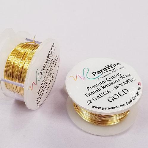 Gold Color, Non-Tarnish Copper Wire (22g / 24g)
