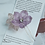 Thumbnail: French Beaded Single Flower Hairpin with Leaves