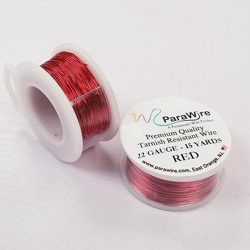 Red Color, Non-Tarnish Copper Wire (22g / 24g)