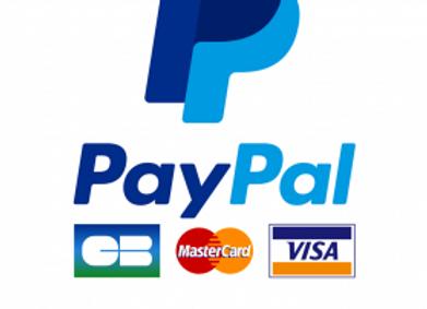Versement Arrhes / CB / via Paypal