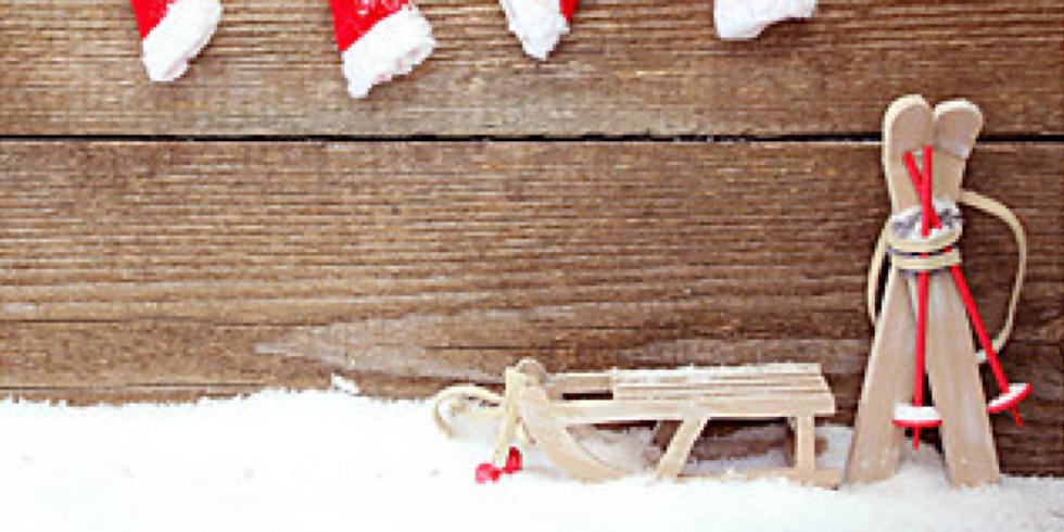 Mini Séance Noël 2017 ( fond chalet et ski)