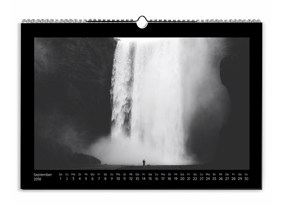 Calendrier annuel Horizontal - format 20x33cm sur papier photo brillant