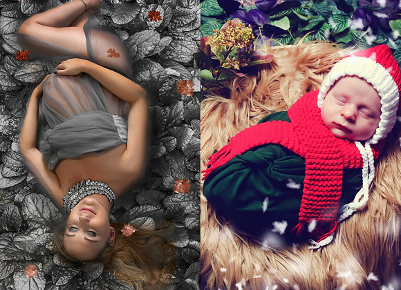 Pack Maternité + Bébé (inclus 2 séances ) en studio