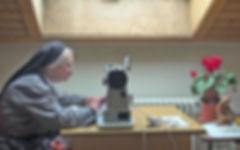 Filmproduktion - Alltagsarbeit im Kloster - Nähzimmer