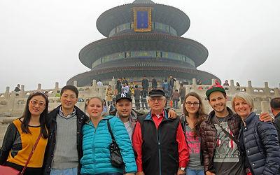 China-Team mit Auftraggeber - Verbotene Stadt Beijing