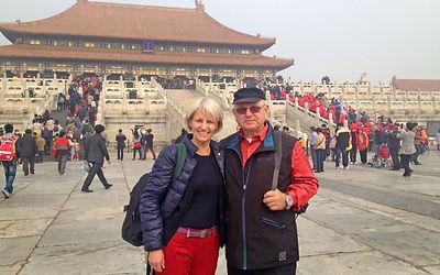 Gaby Scheewe-Pfeil mit Reiseveranstalter - Verbotene Stadt Beijing