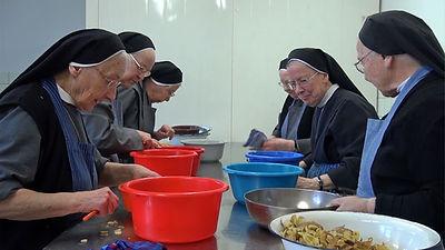 Alltagsarbeit im Kloster - Gemüseküche