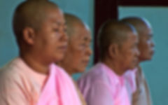 TV Produktion - Meditation - Mönche in Myanmar