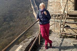 Reisedokumentation - Gaby Scheewe-Pfeil auf der Chinesischen Mauer