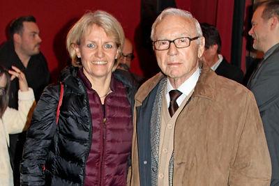 Dokumentarfilm - Im Filmtheater Lörrach Frau Scheewe-Pfeil mit Herrn Stein