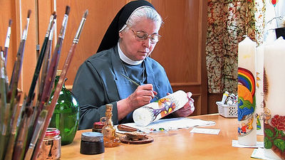Alltagsarbeit im Kloster - Kerzenwerkstatt
