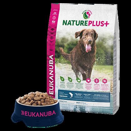 Eukanuba Natureplus+-Felnőtt nagytestű kutyáknak fagyasztott lazacban gazdag