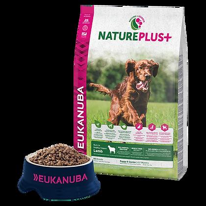 Eukanuba Natureplus+-Kölyök kutyáknak fagyasztott bárányban gazdag