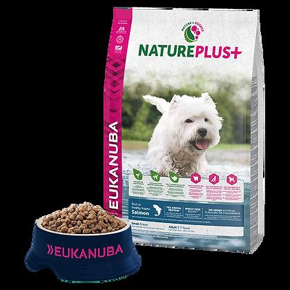 Eukanuba Natureplus+-Felnőtt kistestű kutyáknak fagyasztott lazacban gazdag