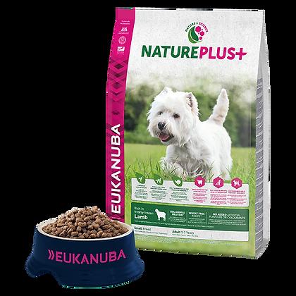 Eukanuba Natureplus+-Felnőtt kistestű kutyáknak fagyasztott bárányban gazdag