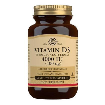Solgar Vitamin D3 4000iu Vegetable Capsules (60)