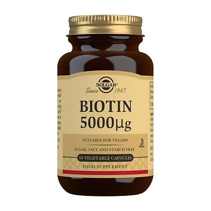 Solgar Biotin 5000 mcg (50 Capsules)