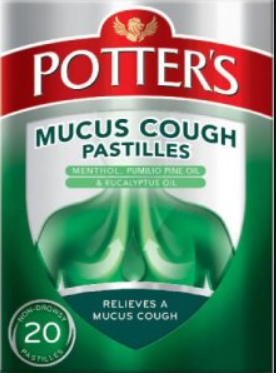 Potter's Mucus Cough Pastilles