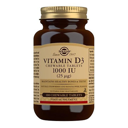 Solgar Vitamin D3 1000iu  chewable tablets