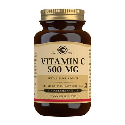 Solgar Vitamin C 500mg Veg. Capsules (100)