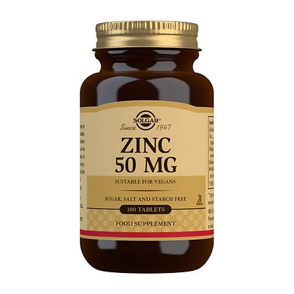 Solgar Zinc 50mg Tablets (100)