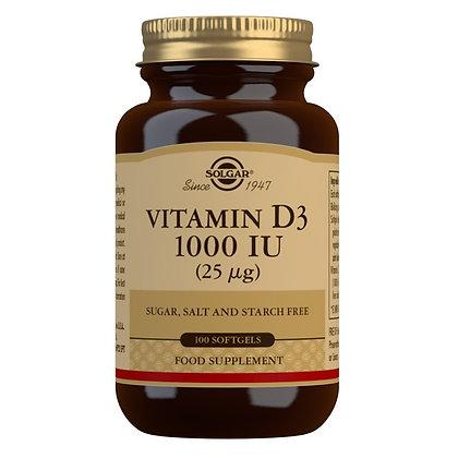 Solgar Vitamin D3 1000iu (100 Softgels)
