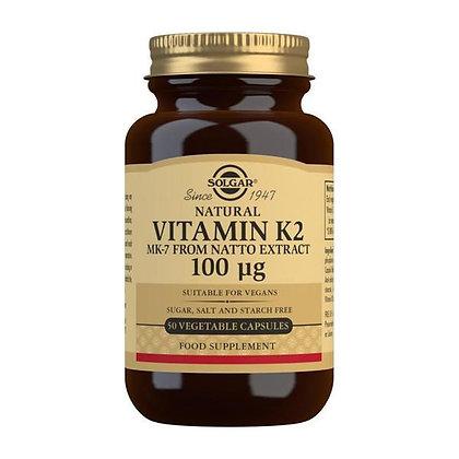 Solgar Vitamin K2 100mcg Veg. Capsules (50)