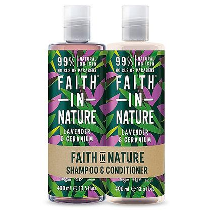 Faith in Nature Lavender & Geranium Banded Shampoo & Conditioner