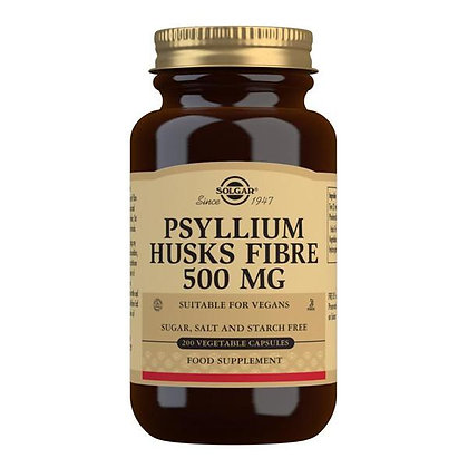 Solgar Psyllium Husks Fibre 500mg Vegetable Capsules (200)