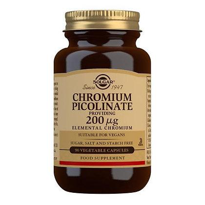Solgar Chromium Picolinate 200mcg Vegetable Capsules (90)