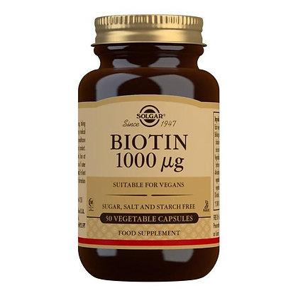 Solgar Biotin 1000mcg (50 Capsules)