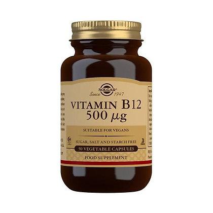 Solgar Vitamin B12 500mcg (50 Veg. Capsules)