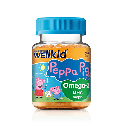 Wellkid Peppa Pig Omega-3 Flaxseed oil Vegan