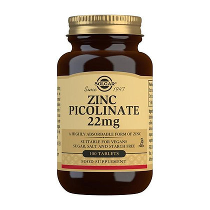 Solgar Zinc Picolinate 22mg (100 tablets)