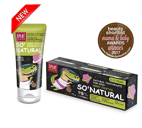 Splat So Natural Toothpaste for Kids Berry Cocktail 73g