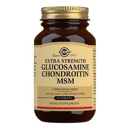 Solgar Extra Strength Glucosamine, Chondroitin MSM 60 Tablets