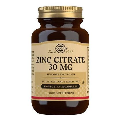 Solgar Zinc Citrate 30mg (100 capsules)