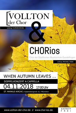 Plakat - Herbstkonzert CHORIOS&VOLLTON -