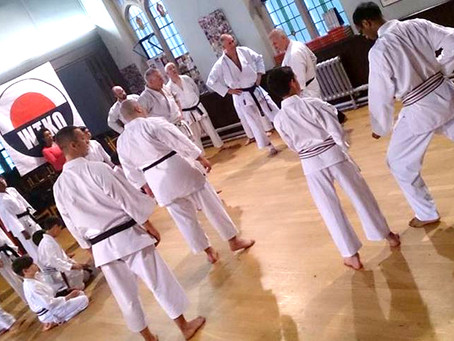 Training with John Mullin Sensei 8th Dan WTKO
