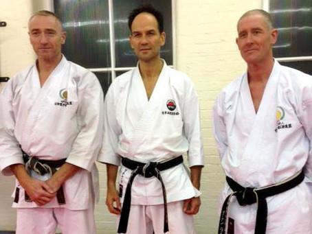 Training with Glenn Riley Sensei and Simon Bligh Sensei