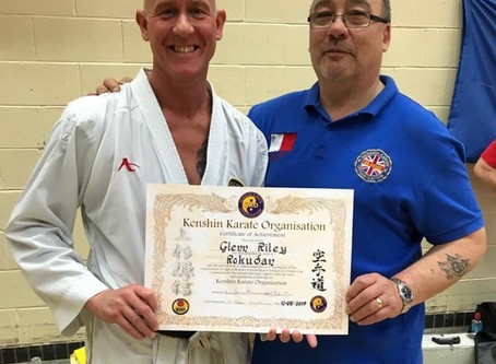 Sensei Glenn Riley awarded Roku-Dan
