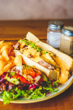 Philly Steak and Cheese Baguette