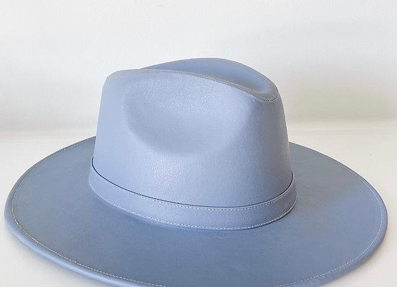 Sombrero indiana vinipiel azul