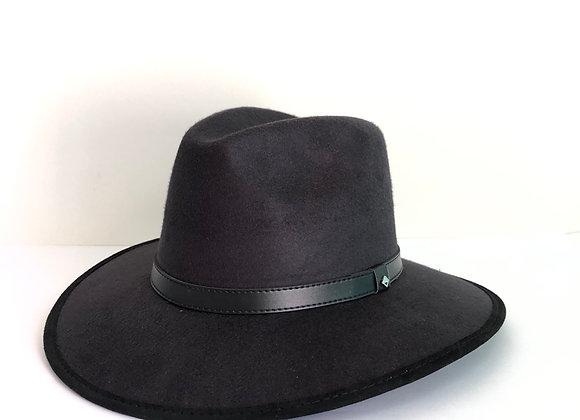 Sombrero indiana gamuza negro